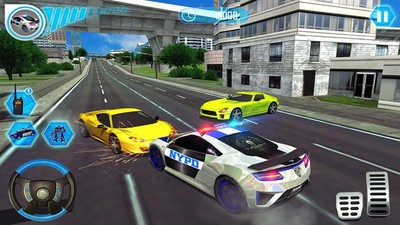 警察机器人汽车模拟