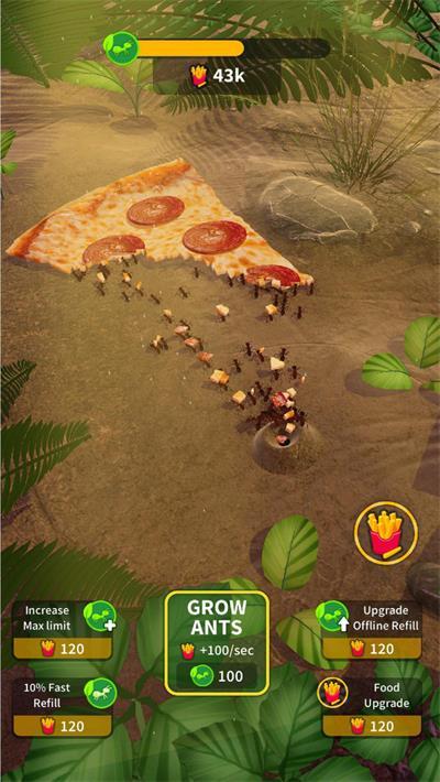 蚂蚁赛跑殖民地