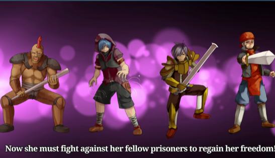 赤环的少女奴隶斗技场